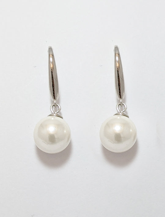 Glass Pearls With Sterling Silver
