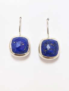Lapis And Silver Earrings