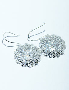 Swirly Earrings in Silver