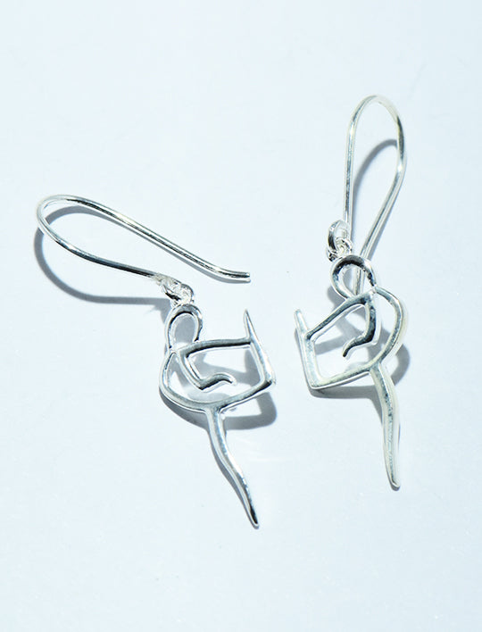 Dancing Lady Earrings in Silver