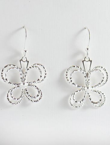Textured Butterfly Earrings