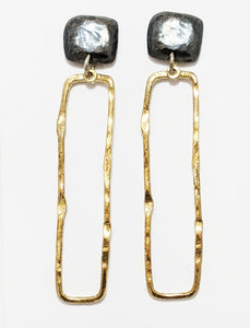 Black Oxidized Gold/Silver Earrings