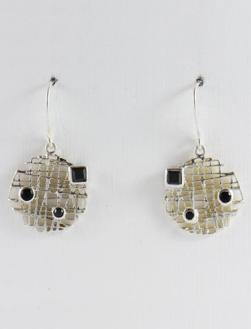 Mesh Earrings in Silver