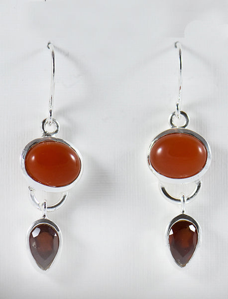 Oval and Pear Earrings