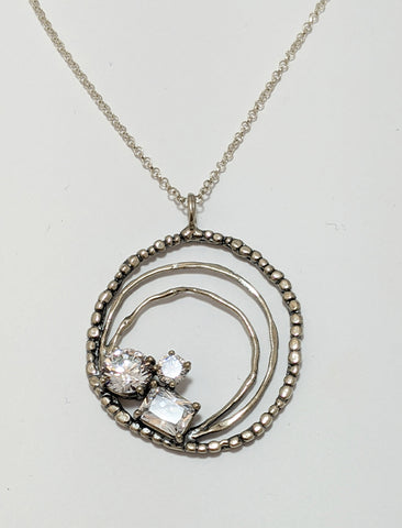 Three Circle Cubic Necklace
