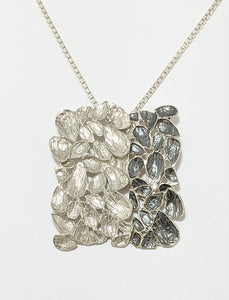 Silver Oxidized Leaf Necklace