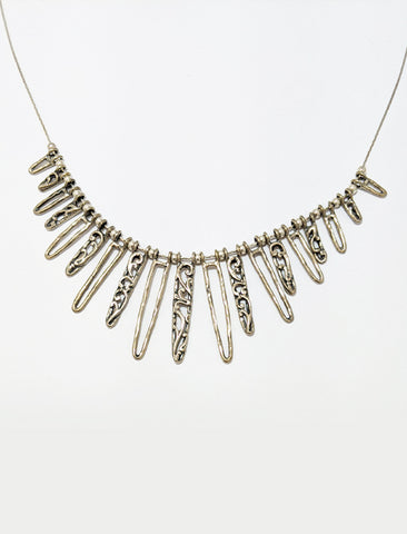 Silver Circular Icicle Necklace