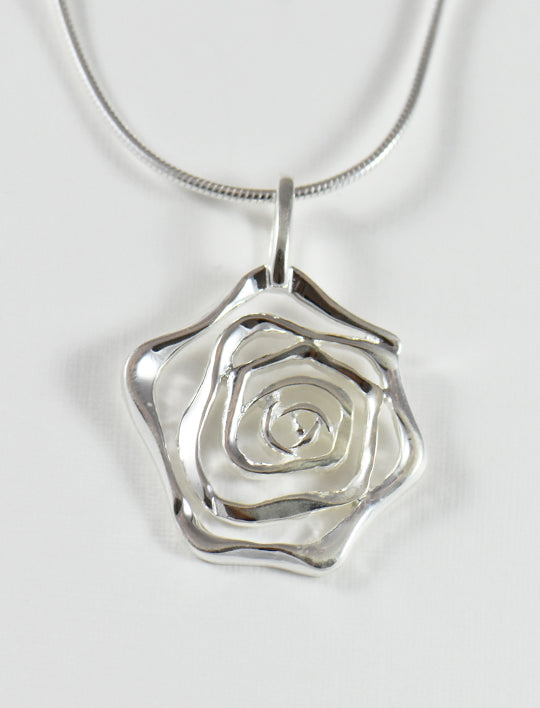 Silver Swirl Necklace