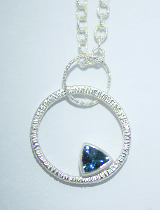 Blue Topaz Unity Trillion Necklace Necklace