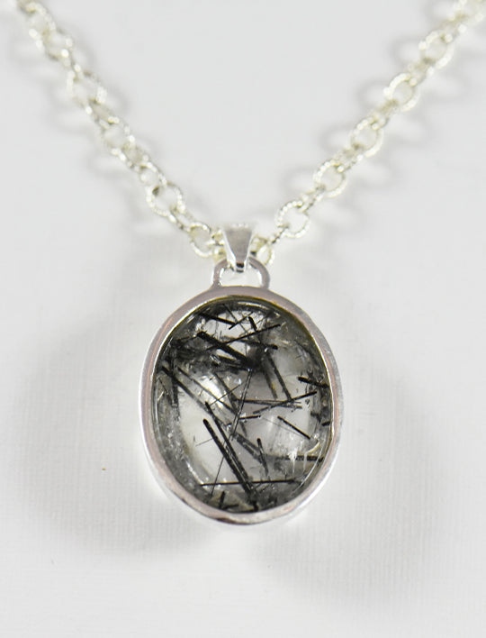 Black Tourmaline Quartz Necklace