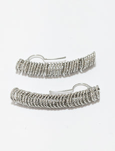 Textured Silver Earrings
