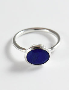 Oval Shape Bezel Set Ring