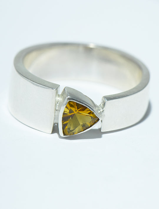 Concave Cut Citrine Trillion