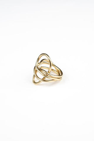 Gold Coil Wrap Ring