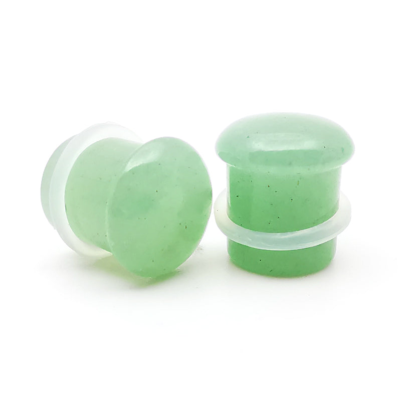 Green Aventurine Single Flare Stone Plugs