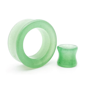 Green Aventurine Double Flare Tunnels /  Eyelets Ear Gauges