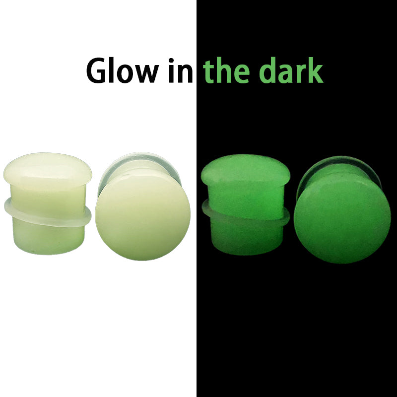 Glow in the Dark Stone Single Flare Plugs Ear Gauge