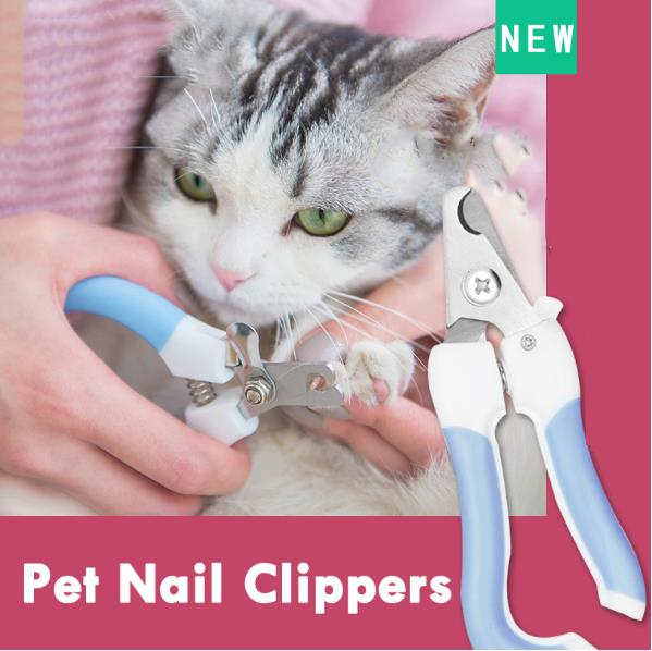 Professional Pet Cat Dog Nail Clipper Cutter Stainless Steel Grooming Clippers Grinders Cats Dog Claw Nail Scissors with Lock