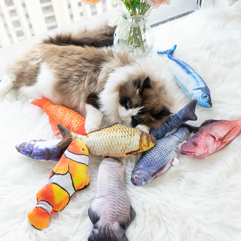 Pet products Amazon explosion electric simulation fish will beat cat toys  automatically tease cat toys to send cat mint– NuoPets