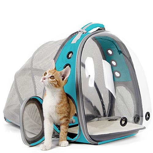 Back Expandable Cat Backpack Space Capsule Transparent Pet Carrier
