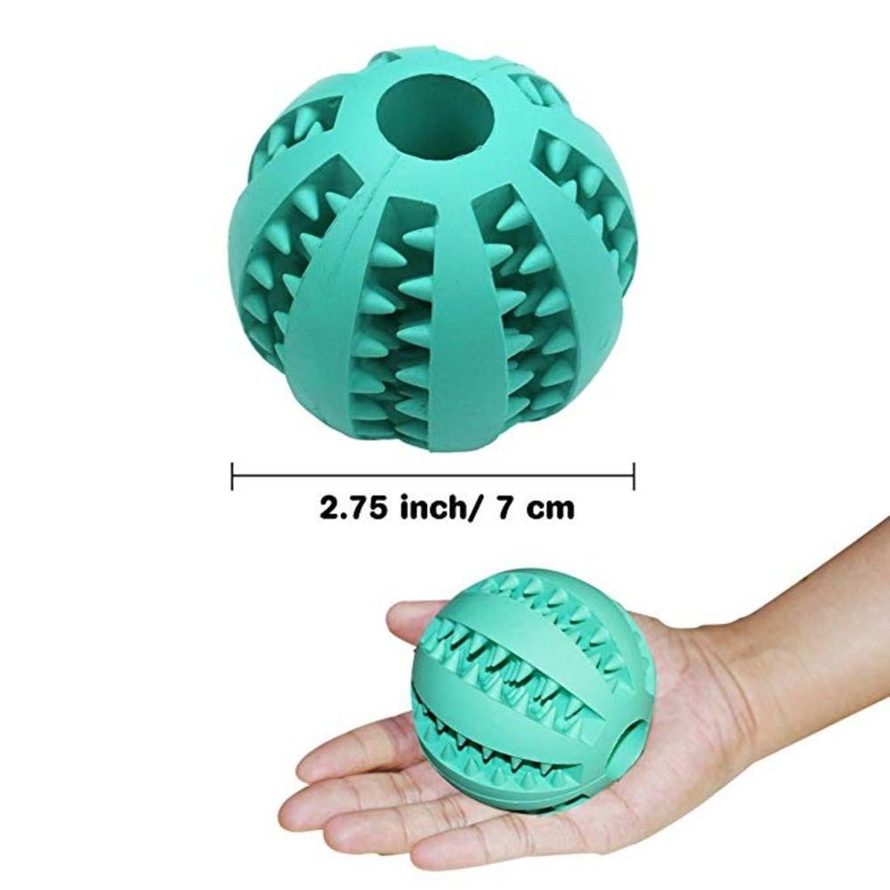 A Non-Toxic Soft Rubber IQ Treat Dispensing Chew Ball Toy for Dogs - NuoPets