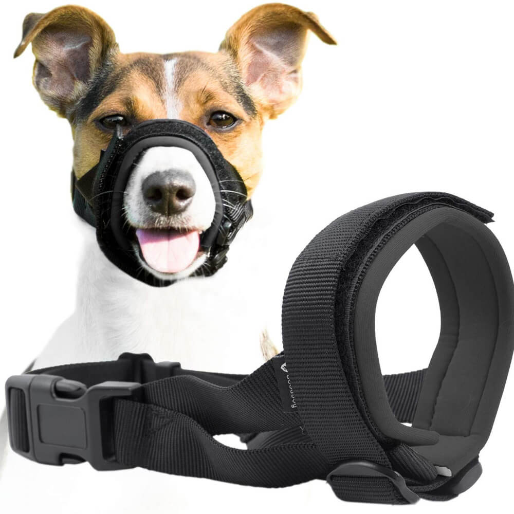 Pet Dog Padded Head Collar Gentle Halter Leash Leader Stop Pulling Training Tool