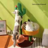 Cactus Cat Scratching Post with Sisal Rope Cat Scratcher Cactus for Cats Scratch Kitten Toy Cat Nest Tree House Furniture Shelve