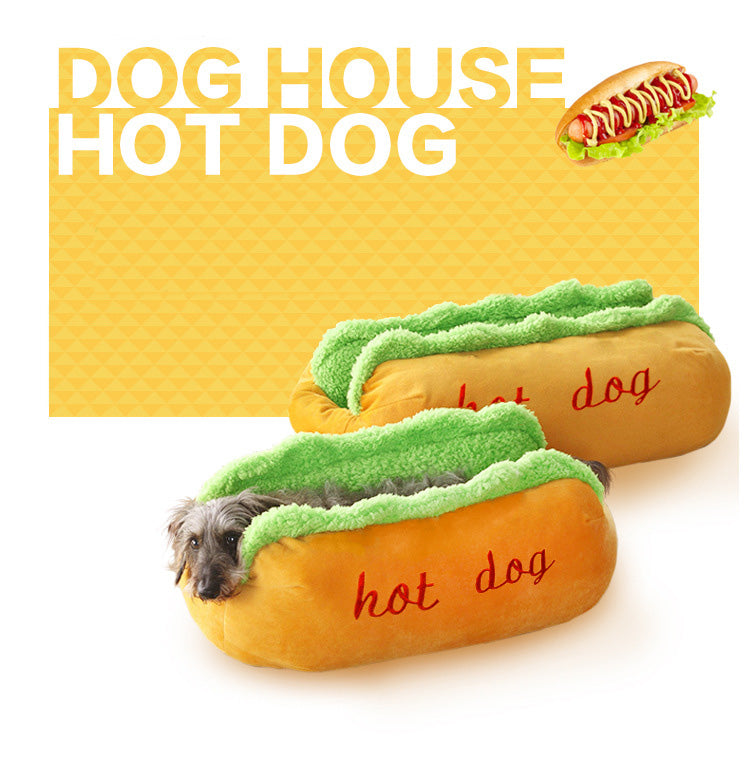 Hot Dog Bed Dog Kennel Mat Warm Soft Bed