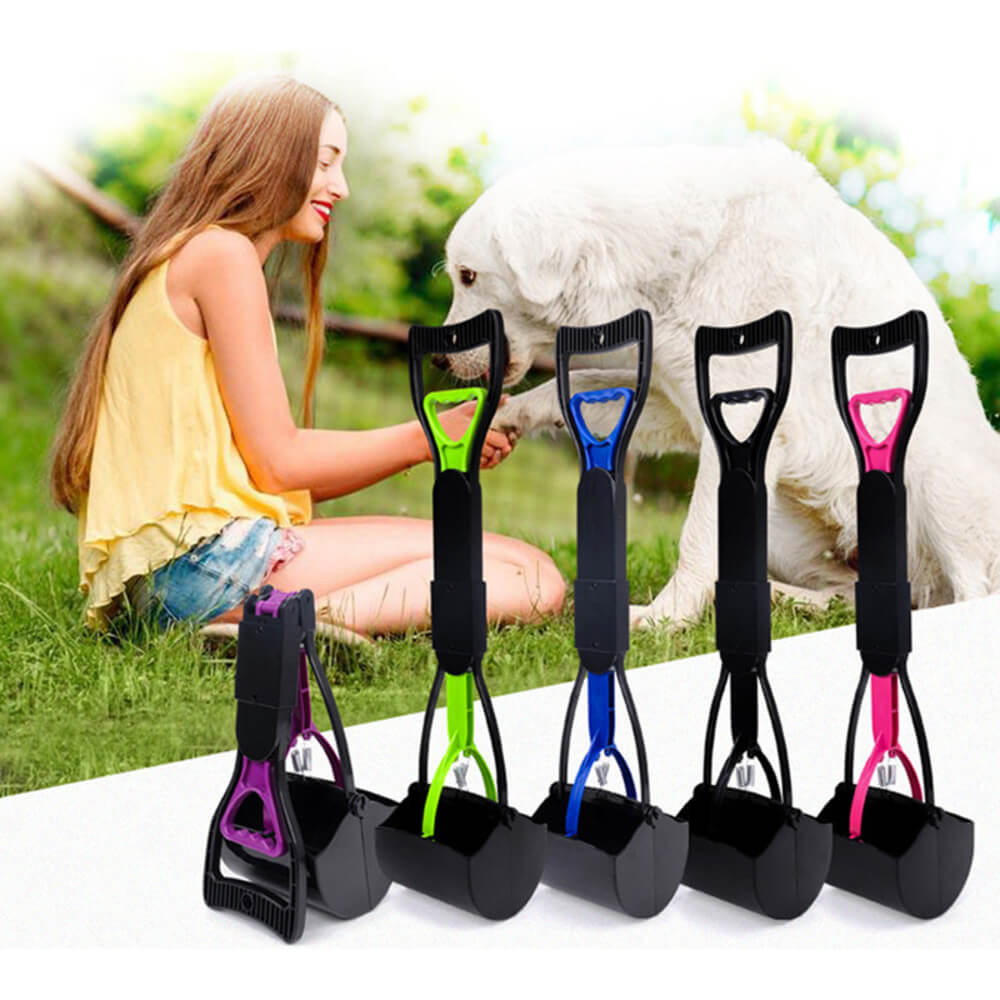 Waste & Pet Pooper Scooper For Dogs & Cats Both Foldable, Durable Spring For Easy Grass and Gravel Pick Up