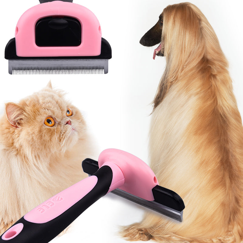 Professional Pet Grooming Brush & Deshedding Tool Reduces Shedding Up To 95% in Dogs & Cats - NuoPets