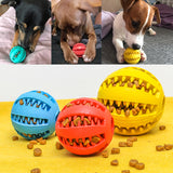 Chew Ball Dog Toys Non-Toxic Soft Rubber IQ Treat Dispensing