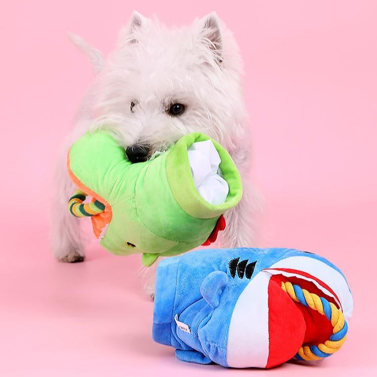 Dog Toy Shark Pet Plush Training Toy