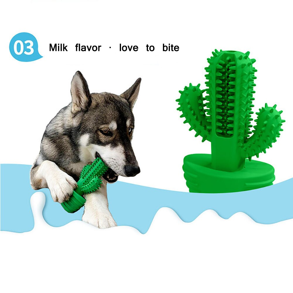Nuopets Pet Toothbrush Chew Toy Doggy Brush Stick Soft Rubber dog Teeth Cleaning