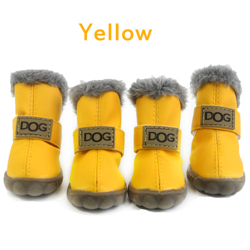 Dog boots pet shoes winter waterproof Boots(2 pairs)