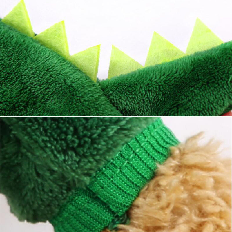 Funny Pet Cat Clothes Dogs Dinosaur Costumes Coat For Small Dog Winter Warm Fleece Puppy Outfit Cats Clothing