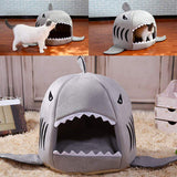 Dog House Shark Pet Bed High Quality Cotton Material For Large Dogs Warm Sofa Small Dog Cat House Indoor soft Kennel