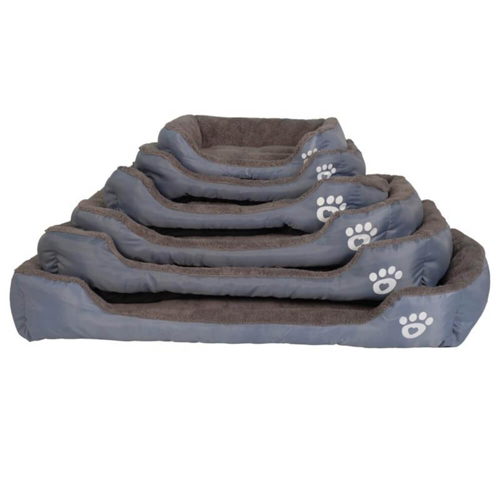 S-3XL 9 Colors Paw Pet Sofa Dog Beds Waterproof Bottom Soft Fleece Warm Cat Bed