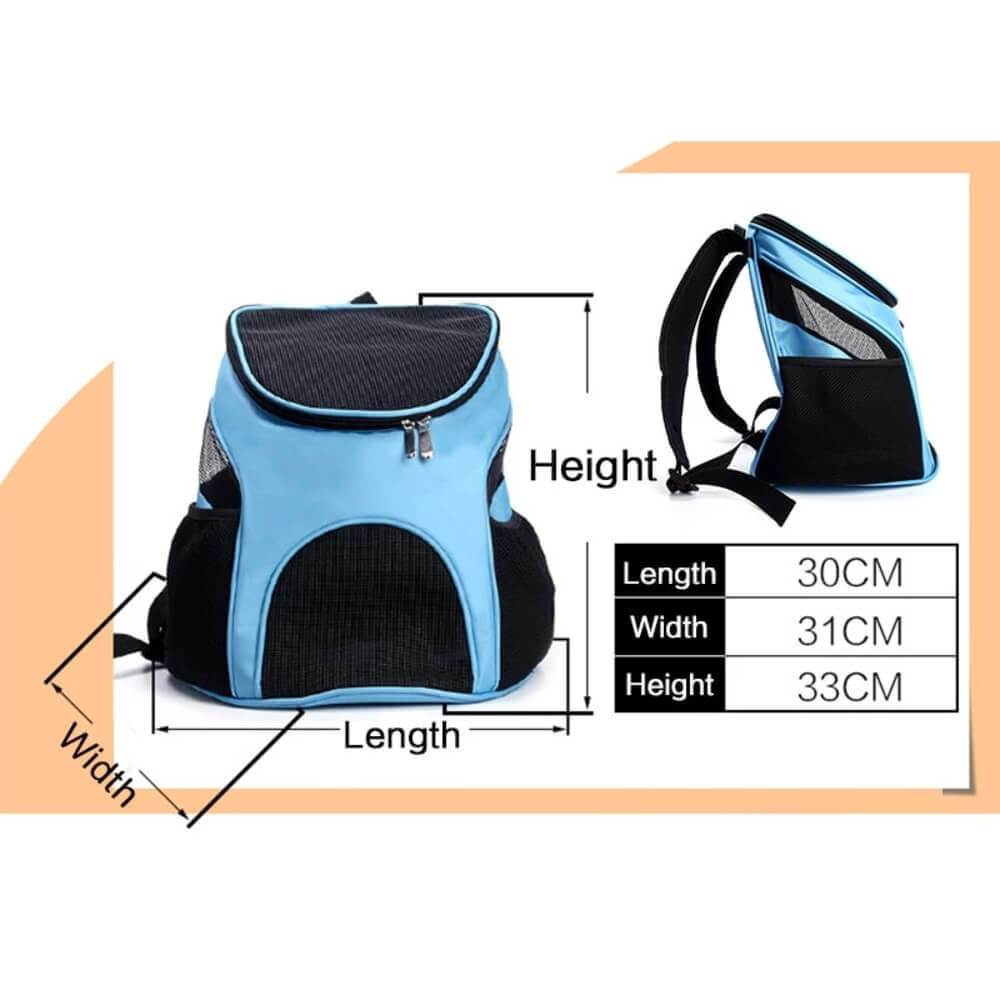 Breathable Pet Carrier Mesh Backpack For Cats & Dogs