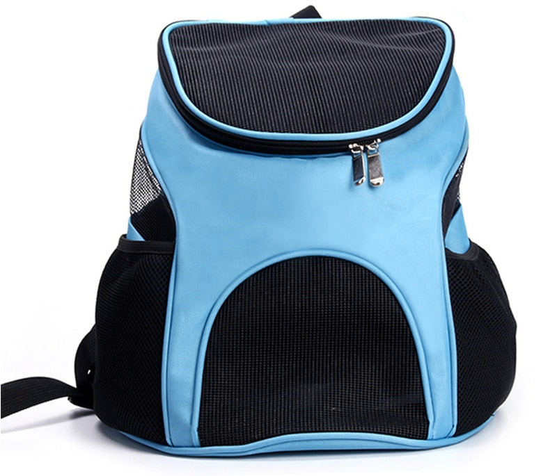 Pet Dog Carriers Backpack Bags Pet Cat Outdoor Travel Carrier Packbag Portable Zipper Mesh Backpack Breathable Dog Bags Supplies - NuoPets