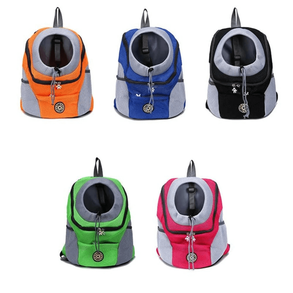 Front Bag Mesh Pet Carrier Travel Backpack With Breathable Head Out Design & Padded Shoulder Straps For Dogs & Cats
