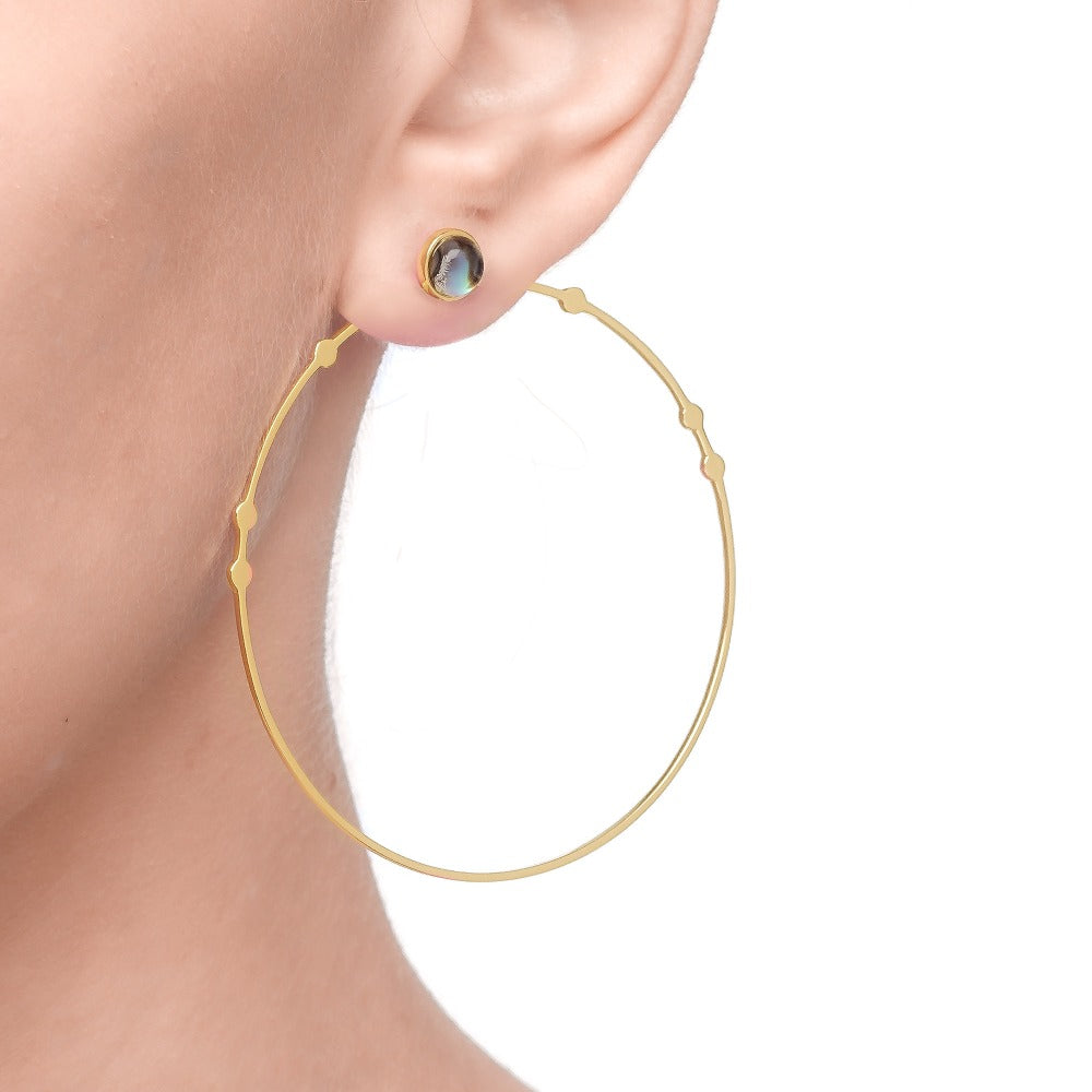 Spirito Rosa x Queen Dina Fall | Kanya Earrings | 925 Silver | 14K Gold Plated