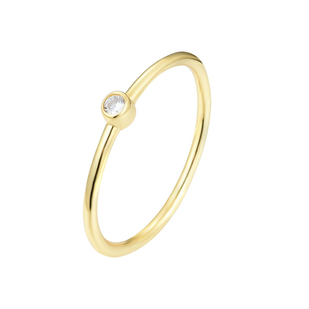 Salacia | Astypalaia Ring | 925 Silver | White CZ | 18K Gold Plated