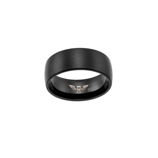 Aeon | Barcelona Ring | Brushed Black Ion Plated Stainless Steel