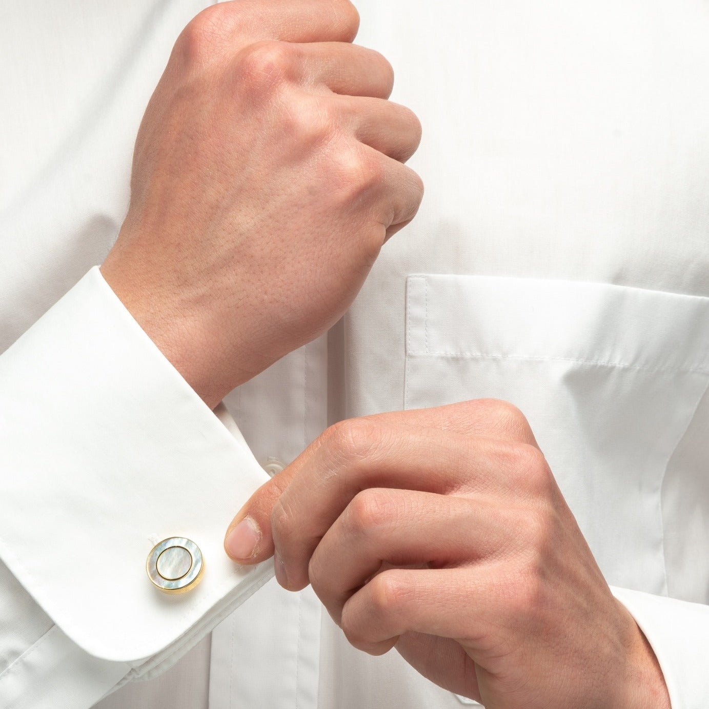 Aeon | Brussels Cufflinks | Gold Plated Stainless Steel