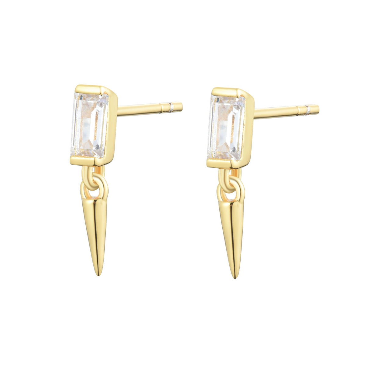 Fortuna | Padua Earrings | 925 Silver | White CZ | 18K Gold Plated