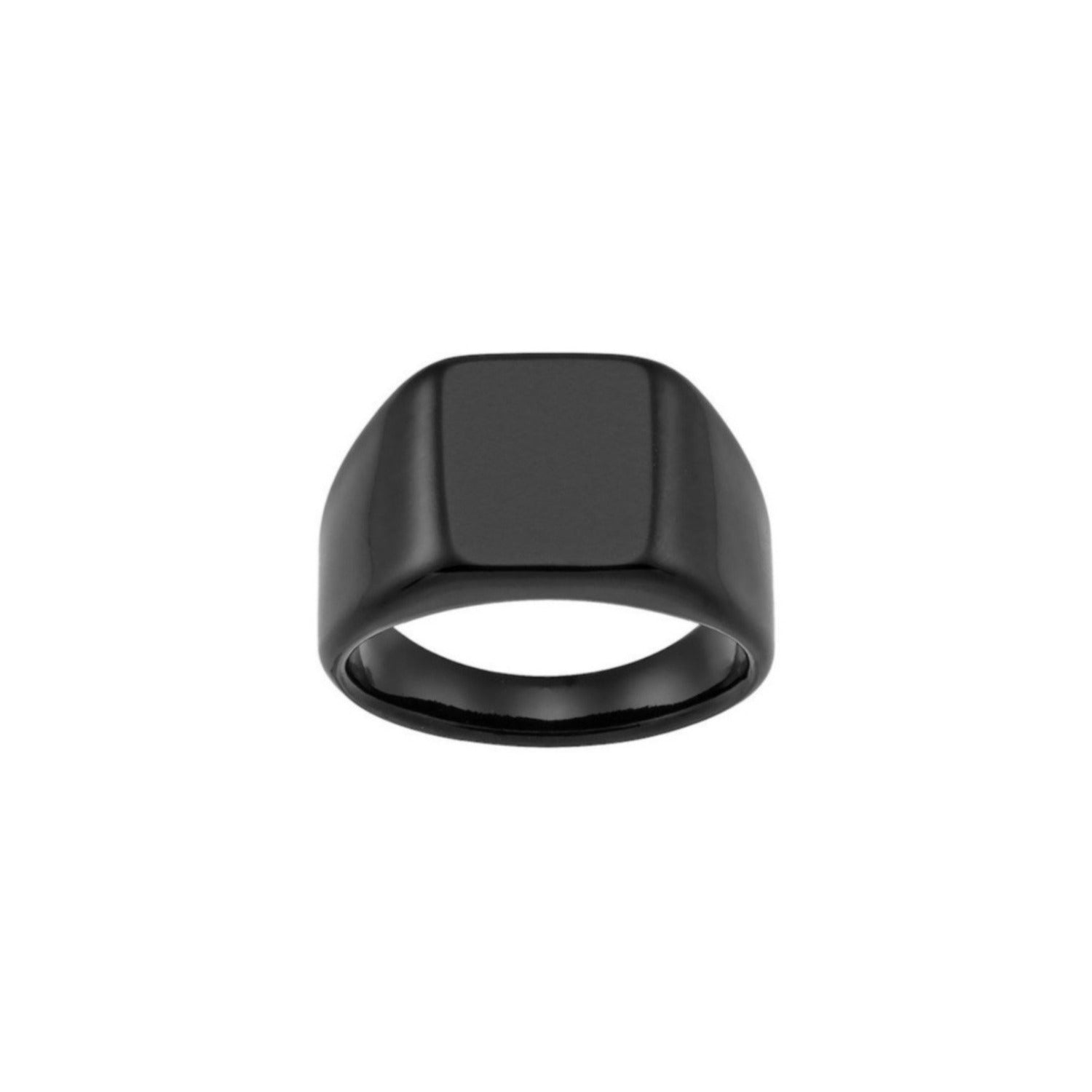Aeon | Lisbon Ring | Black Ion Plated Stainless Steel