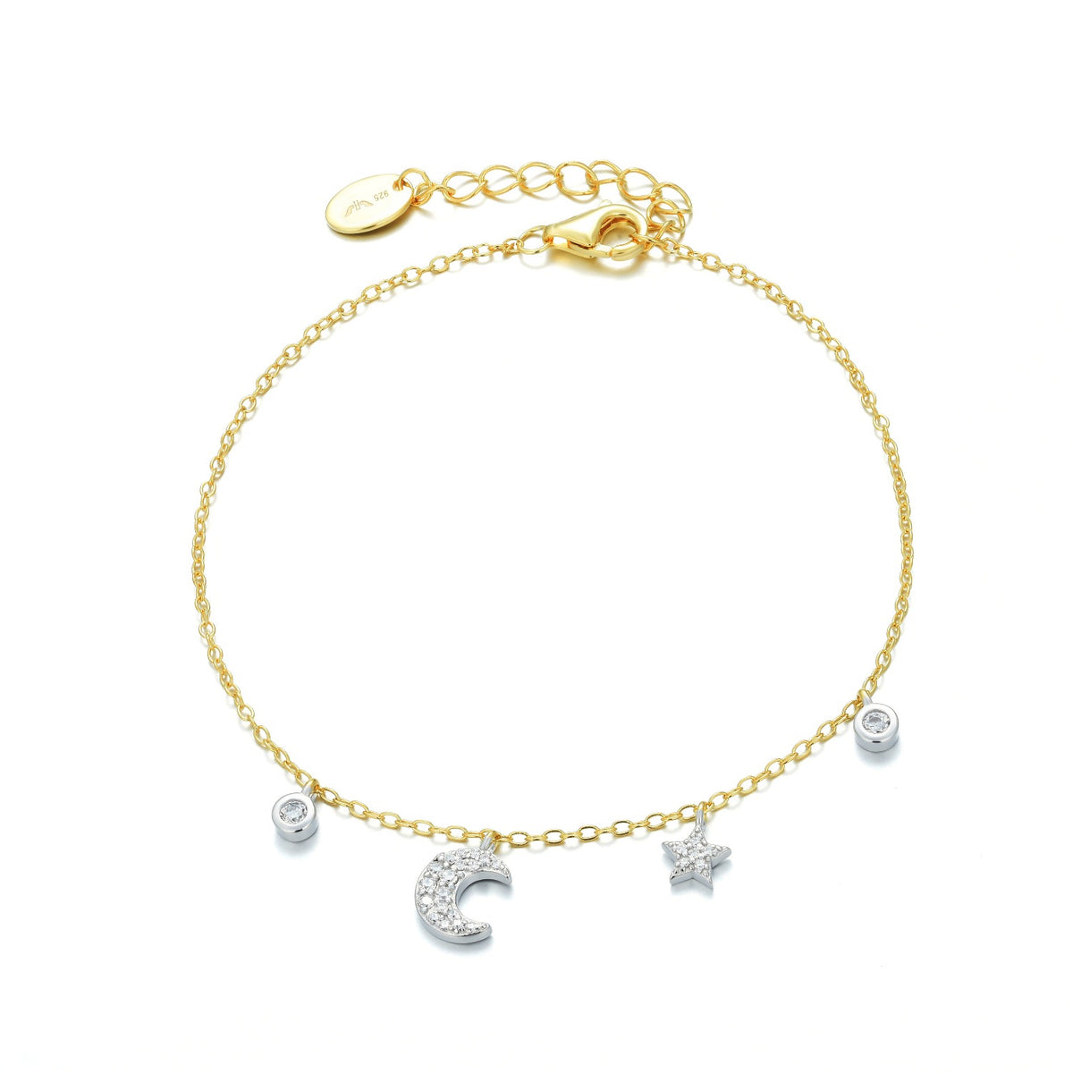 Fortuna | Ravenna Bracelet | 925 Silver | White CZ | White Rhodium and 18K Gold Plated