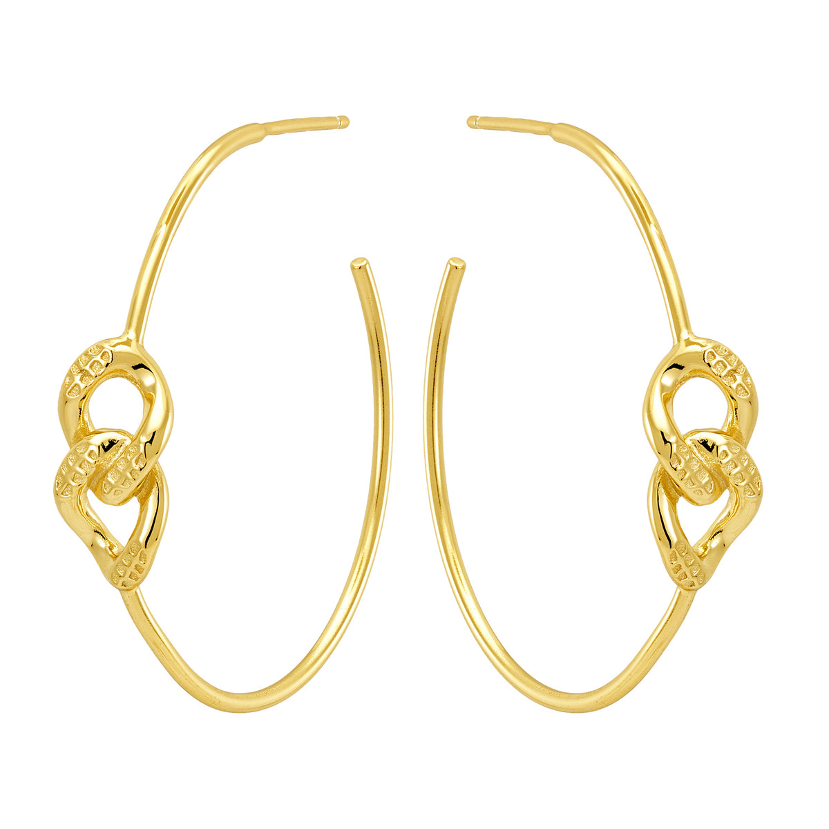 Bellona | Bond Hoops | 925 Silver | 14K Gold Plated