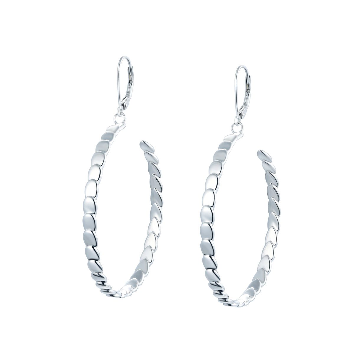 Salacia | Skopelos Earrings | 925 Silver | White Rhodium Plated
