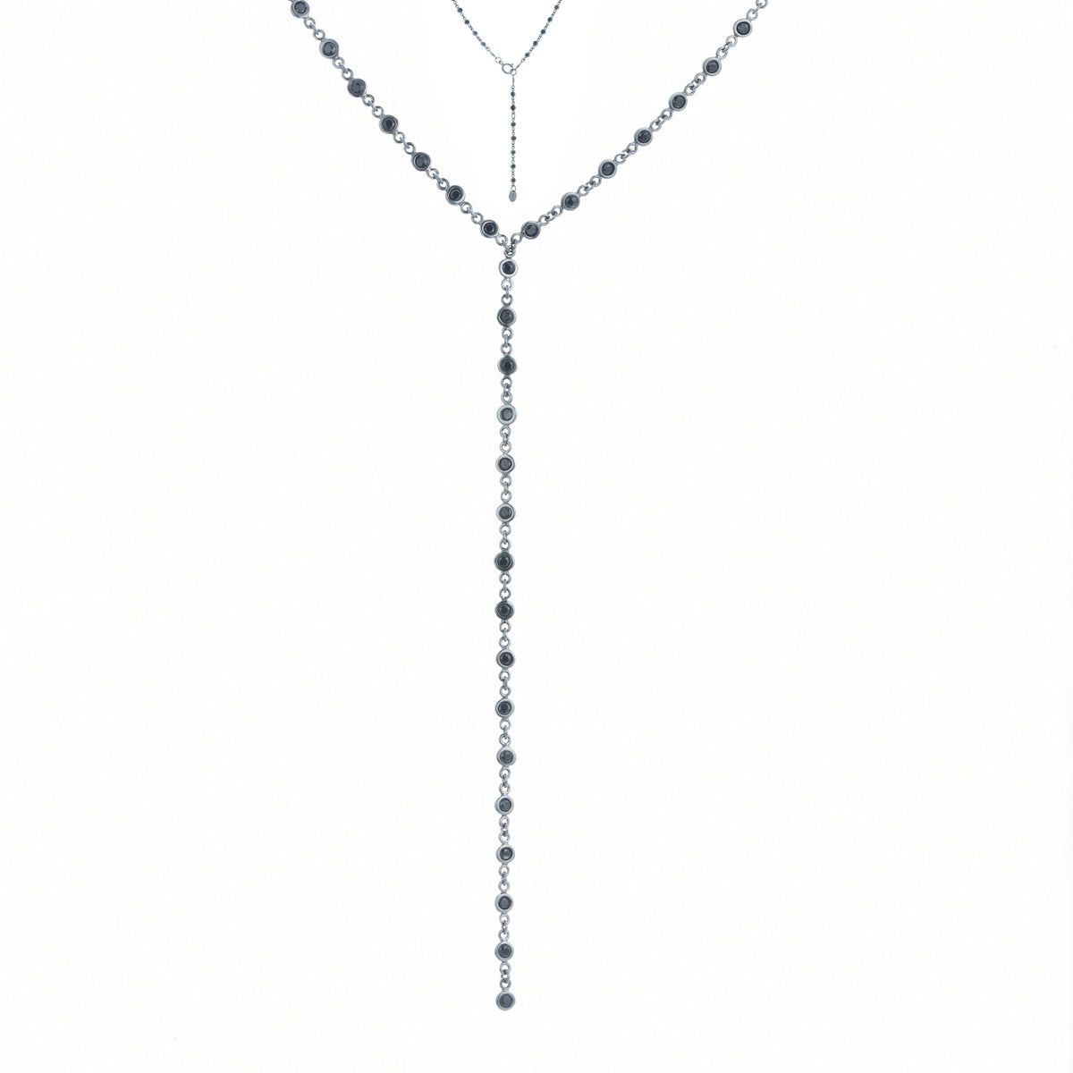 Fortuna | Milan Necklace | 925 Silver | Black CZ | Black Rhodium Plated
